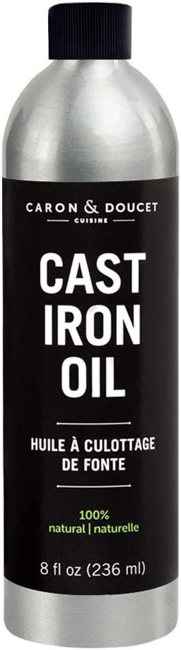 Caron & Doucet - Cast Iron Seasoning & Cleaning Oil | 100% Plant-Based & will NOT to go Rancid! | Best for Seasoning, Restoring, Curing and Care after Cleaning | For Skillets, Pans & Cast Iron.