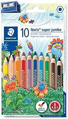 STAEDTLER Noris Club 129 NC10 - Lápices de Colores Super Jumbo ...