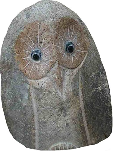 Stone Age Creations AN-OW-04 Decorative Stone Owl, 4-Inch (Tierra Stone)