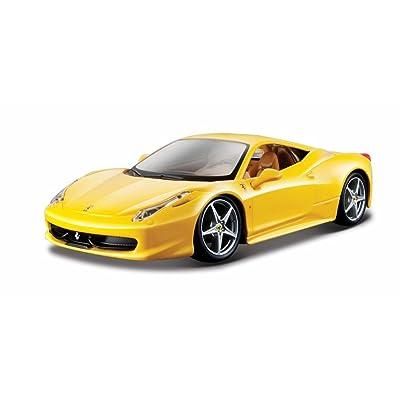 Ferrari 458 Italia Yellow 1/24 by Bburago 26003: Toys & Games