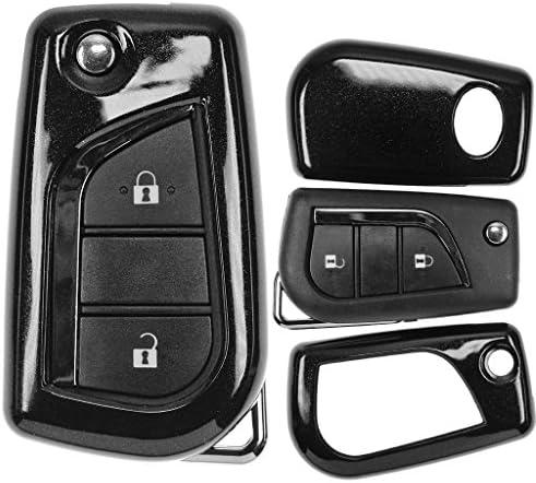 Klapp Schlüssel Cover Hülle Für Toyota Auris Corolla Elektronik