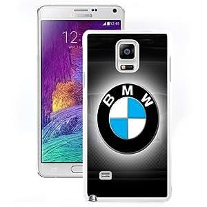 Fashion Custom Designed Cover Case For Samsung Galaxy Note 4 N910A N910T N910P N910V N910R4 Phone Case With BMW Logo Insignia_White Phone Case