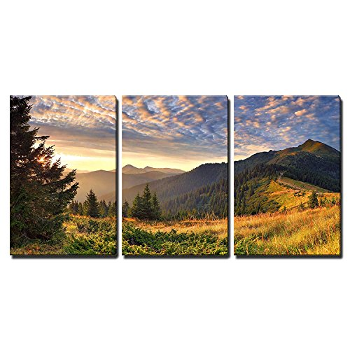 (wall26 - Sunrise in The Mountains - Canvas Art Wall Decor - 24
