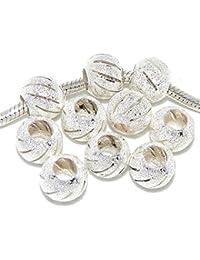 Ten (10) Stardust Spacer Beads for Snake Chain Charm Bracelets
