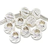 Pro Jewelry Ten (10) Spacer Beads for Snake Chain Charm Bracelets