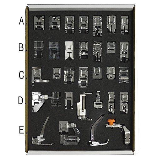 61 opinioni per 32pcs Low Shank sistema cucito macchina Presser piedi insieme elemento Servizi