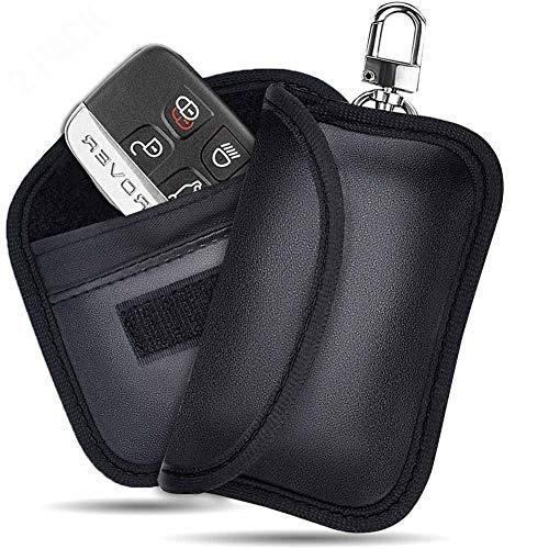 RFID Key Fob ProtectorFaraday Bag, Small RFID Blocking Fob Protector Pouch, Faraday Key Fob Protector Car RFID Signal Blocker Case, Keyless Entry Car Key Protector Anti-Theft Pouch, Anti-Hacking