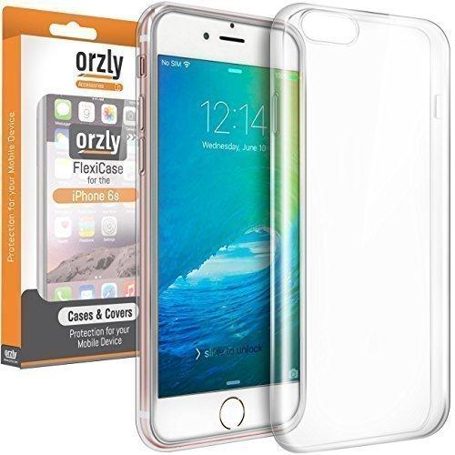 Orzly® - Coque FlexiCase pour Apple iPhone 6 & iPhone 6S (4,7 Pouces Modèles - 2014 & 2015 Versions) - Coque Souple Haute Qualité - Emballage Premium - 100% TRANSPARENT