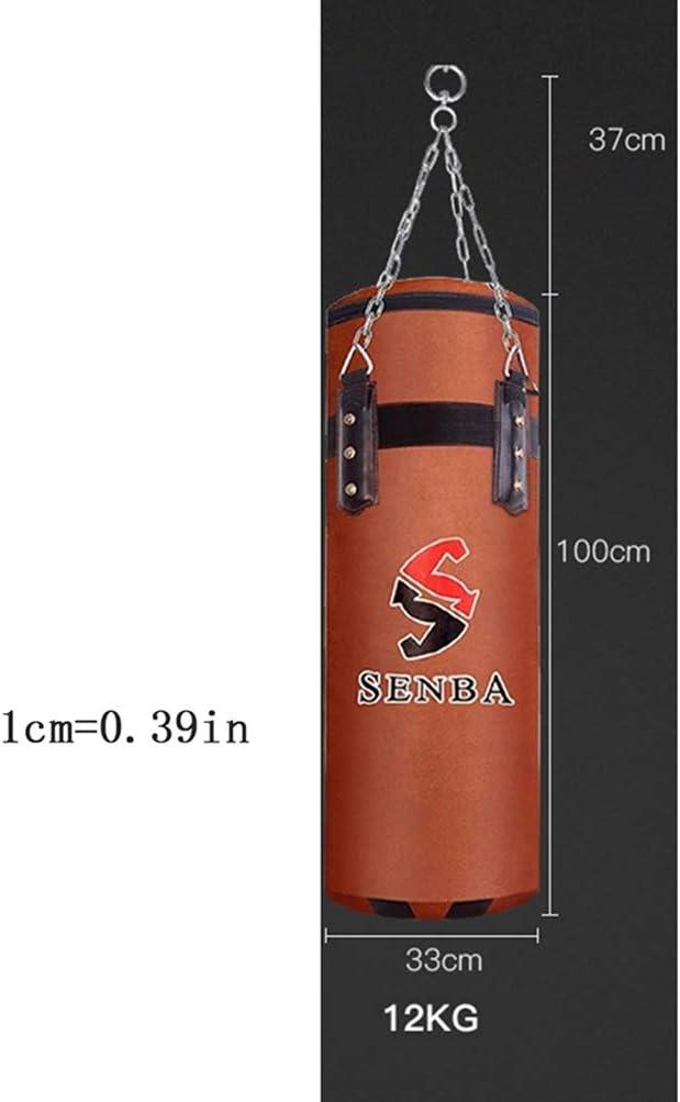 BBQQ 39.37 Pulgadas Entrenamiento De Liberaci/ón De Estr/és Sacos De Arena De Boxeo Especiales De Artes Marciales Huecos Sin Llenar Saco De Boxeo para Adultos Rotador Omnidireccional