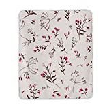 My Little Nest Warm Throw Blanket Cute Floral Flower Lightweight Microfiber Soft Blanket Everyday Use for Bed Couch Sofa 50'' x 60''