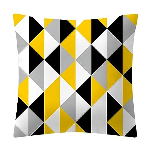 Keyren 45 cm Amarillo Patron geometrico Funda de cojin Sofa ...