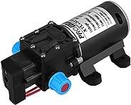 12V DC Diaphragm Self Priming Water Pump, Keenso 100W 8L/Min 160Psi High Pressure Self Priming Water Pump Inte