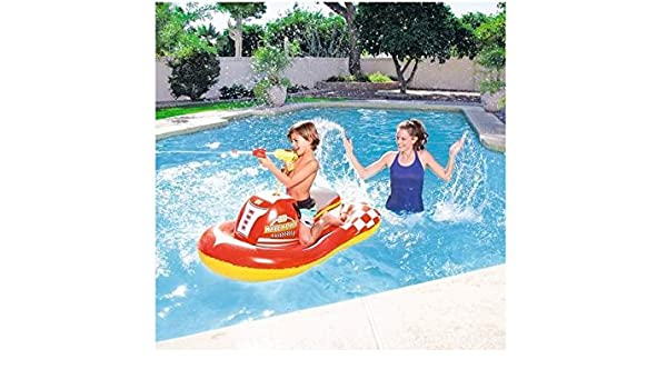 Hinchable de piscina playa montar moto de agua 140 x 84 cm ...