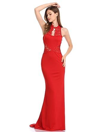 2c3eb1bbdfd KoJooin femme robe bodycon dentelle femmes sexy robes dos nu sirene maxi  robe nuptiale robe de