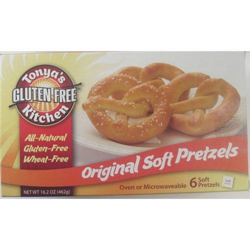Gluten Free Original Soft Pretzel w/ Salt - 16.2 oz (Pack of 8) by Tonya's Gluten Free Kitchen