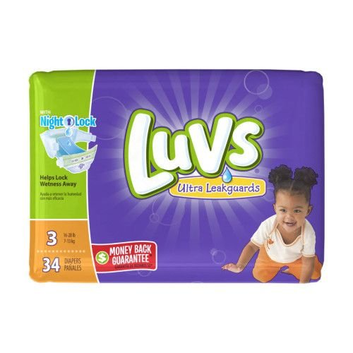 Luvs Ultra Leakguards Diapers Size 3 34 Count (2 Packages) (Luv Diapers Size 3)