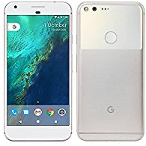 Google Pixel 1st Gen 32GB Factory Unlocked GSM/CDMA Smartphone for all GSM Carriers + Verizon Wireless + Sprint – Very Silver