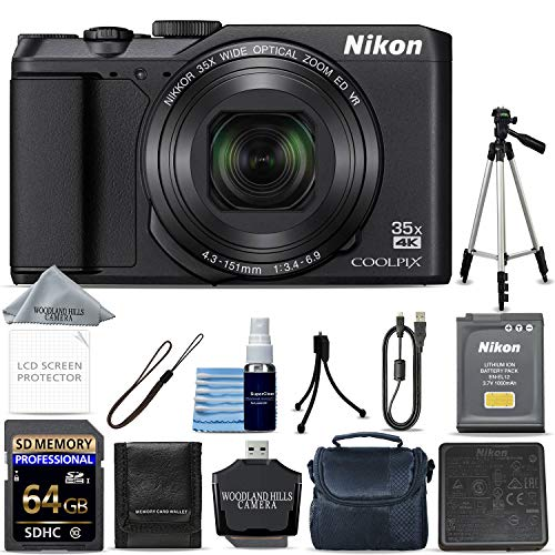 Nikon COOLPIX A900 Digital Camera (Black) + 64GB Memory + Ultimate Starter Bundle + Tripod