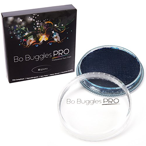 Face Paint 32 grams Sapphire | Classic Colors By Bo Buggles Professional | Water Activated Face Sapphire