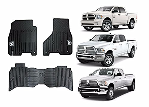 2009-2017 Dodge Ram Crew Cab Front & Rear All Weather Slush Floor Mats by Unknown