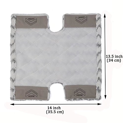 VACFIT Steam Mop Pads for Shark Lift-Away Pro S3973 S5001 S5002 Washable Steam Pocket Mop Compare with Part XTP184 Fit for Shark S5003 S6001 S6002 Replacement 3Pcs by VACFIT (Image #2)