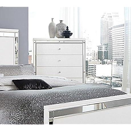 White Bedroom Furniture Alonza Chest