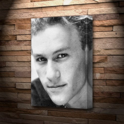 - HEATH LEDGER - Canvas Print (LARGE A3 - Signed by the Artist) #js001