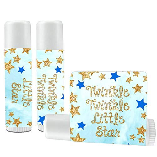 12 Twinkle Twinkle Little Star Lip Balms - Twinkle Little Star Theme Lip Balms - Twinkle Little Star Baby Shower - Twinkle Little Star Birthday - Boy Baby -