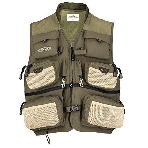Northstar Sports North Star Sports Green Taslon Green River Vest - Medium ns-Greenriver-M Green Taslon Green River Vest - Medium