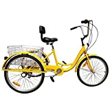 Best Adult Tricycles - Ridgeyard 6 Speed 24 Inch 3 Wheel Adult Review
