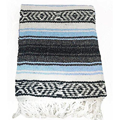 [El Mocajete Brand Traditional Mexican Yoga Blanket Denim] (Recycled Material Costume)