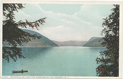 Historic Pictoric Postcard Print | Bay and Narrows of Hudson, Peekskill, N. Y, 1913-1918, re- issued through 1930 | Vintage Fine Art