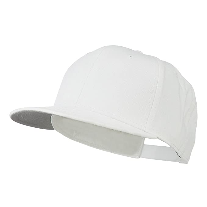 Otto Caps Superior Cotton Twill Flat to Full Flip Bill Cap - White OSFM 757b543d9acf