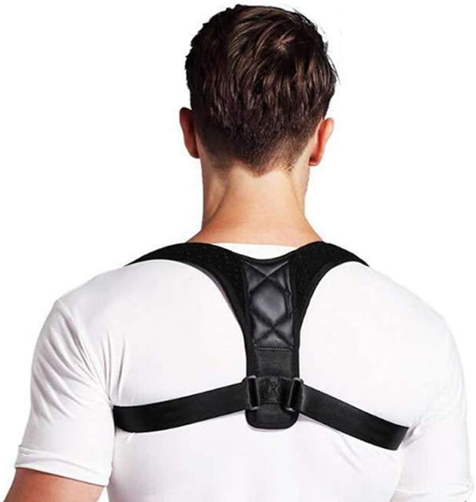 Peicees Posture Corrector for Men and Women, Adjustable Back Straightener, Breathable Upper Back Brace Providing Pain Relief for Neck, Back, Shoulders, Clavicle, Spine (Universal)