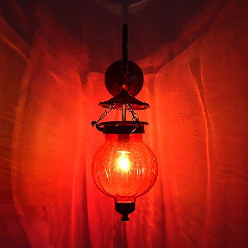 Amazon.com: Hecho a mano Vintage calabaza lámpara de granate ...