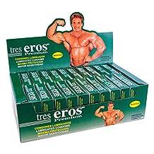 72 Condones Tres Eros Premium, Exhibidor/Despachador