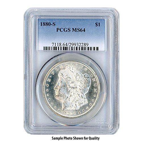 1880 S Morgan Silver Dollar $1 MS64 PCGS