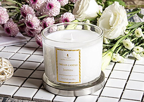 China Jasmine Perfume Oil - Scented Aromatherapy Jasmine Essential Oil Scented Candles,smokeless perfume natural plant blend wax,45 Hrs Long Lasting Scent, Mood Boosting,Uplifting Home Decor,Help Sleep