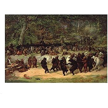 Amazon.com: The Bear Dance William Holbrook 42x30 Gallery ...