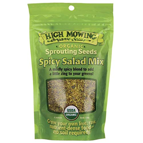 (High Mowing Organic Seeds, Sprouting Seeds Spicy Salad Mix Organic, 4 Ounce)