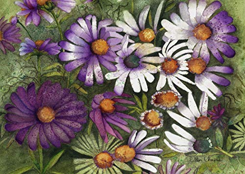 Floral Daisy Art Limited Edition Signed Giclee Watercolor Print on Canvas or Matte Paper