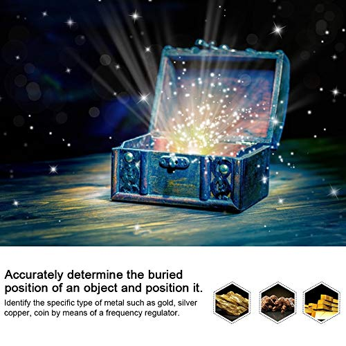 Yoidesu AKS Metal Detector Rechargeable Locator Finder Treasure Scanner 1400Meters 100-240V for Gold, Silver, Copper and Precious Stones.(US)