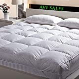 Avi Finest Imported Microfiber Queen Size Mattress Padding/Topper For 5 Star Hotel Feel-White 58 Inch X 75 Inch