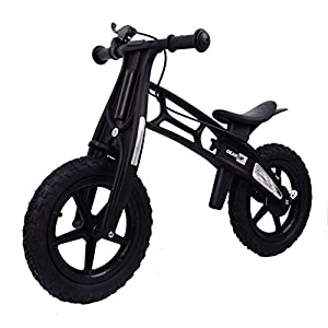 MammyGol Training Balance Bike Kids Sport Bicycle No Pedal Toddler Walking Buddy Excellent Present for Ages 2-5 years (Black)