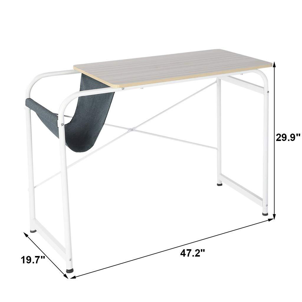 Suesshop Tables, Home Office Desk Desktop Small Computer Desk Laptop Study Table Writing Desk Office Desk with Cloth Bag Storage Study Desk by Suesshop (Image #5)
