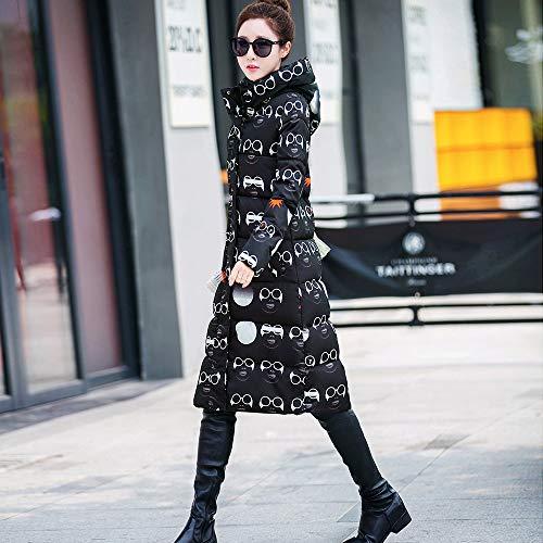 Veste Noir Zzzz Capuchon Blouson Coton Automne Femme Pour Mince En Chaud À Hiver Vêtements Manteau 6XxgrXqF