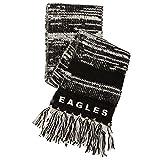 NFL Philadelphia Eagles Moto Marled Scarf, One Size, Black/White