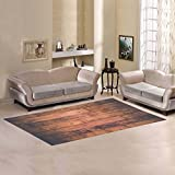 JC-Dress Area Rug Cover Wood Image Modern Carpet Cover 7'x3'3''