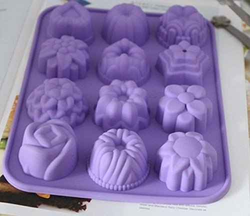 Cake Mold Soap Mold Heart Floral Silicone Mould For Ice lattice pudding Fimo