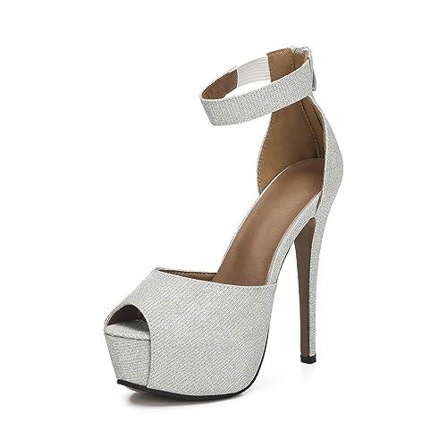 f4e03e9d7f4 Amazon.com   OCHENTA Women's Peep Toe Ankle Strap Platform D'Orsay ...